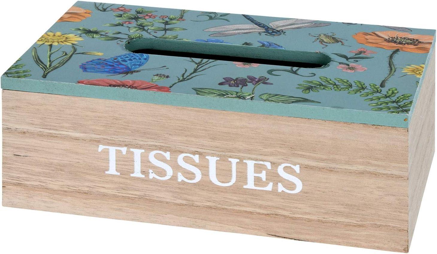 Farbe:T/ürkis Kosmetikt/ücherbox mit Klappdeckel 24x13x9cm Holz 2 Farben Tissue Box Taschentuchbox Aufbewahrungskiste Aufbewahrungsbox