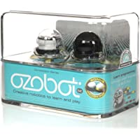 Ozobot 2.0 Robot bit Doble, Negro, Color Blanco