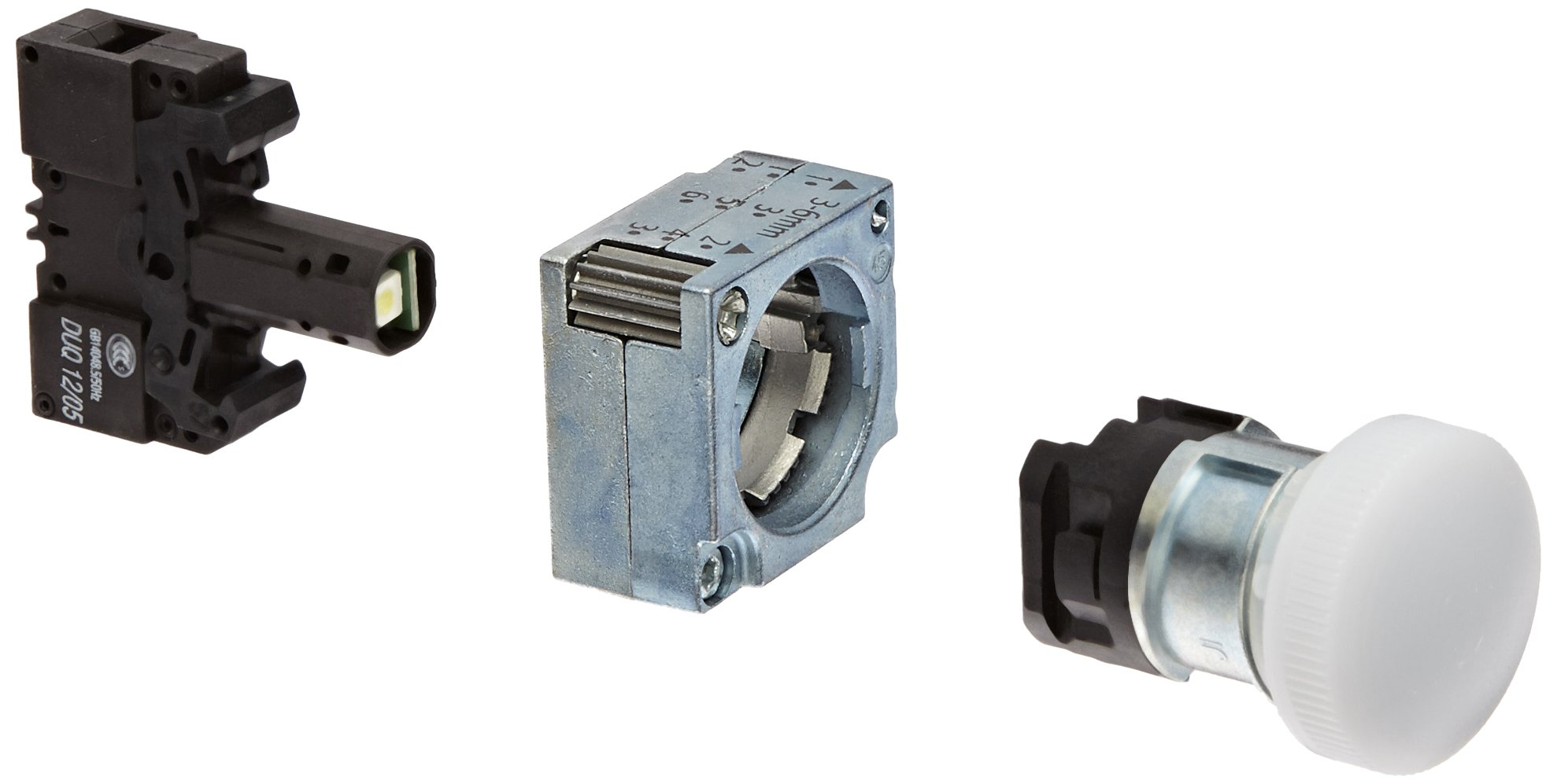 Siemens 3SB36 44-6BA60 Indicator Light, Integrated LED, Concentric Rings, White, 24VAC/VDC Lamp Voltage