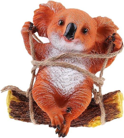 HTRN Animales para jardín Figurines para jardín Adornos Decorativos Juguetes Resina Mini Animales Koala Figurita: Amazon.es: Hogar