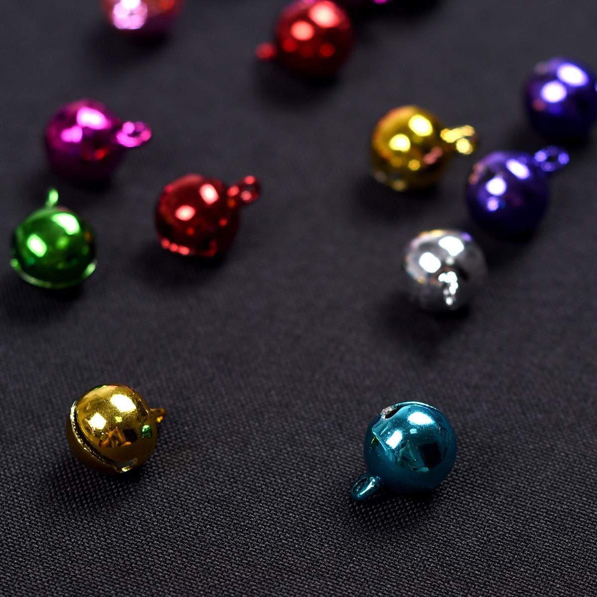 Jingle Bells for Crafts,iKammo 12mm Small Bells DIY Bells Christmas Crafts for DIY Bracelet Anklets Necklace Knitting//Jewelry Making Gold,100pcs