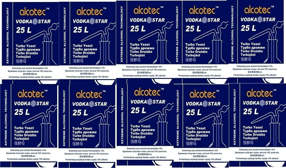 Alcotec 48 Classic Turbohefe 48h Gärhefe Hefe 20/% Vodka AUSVERKAUF  Turbo Hefe