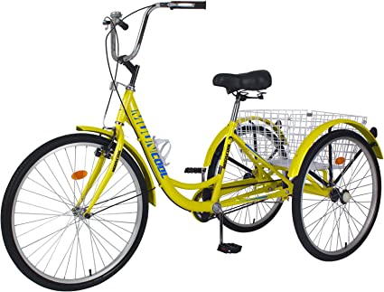 Cargo Trike Cruiser Cycling Tricycle for Outdoor Sports MOPHOTO 20//24//26 7 Speed 3-Wheel Adult Tricycle Trike Cruiser Bike