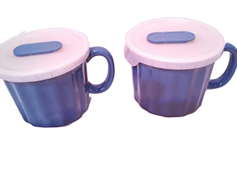 Amazon.com: GoodCook Oven Fresh Stoneware Mugs w/Vented Lids 4pc ...