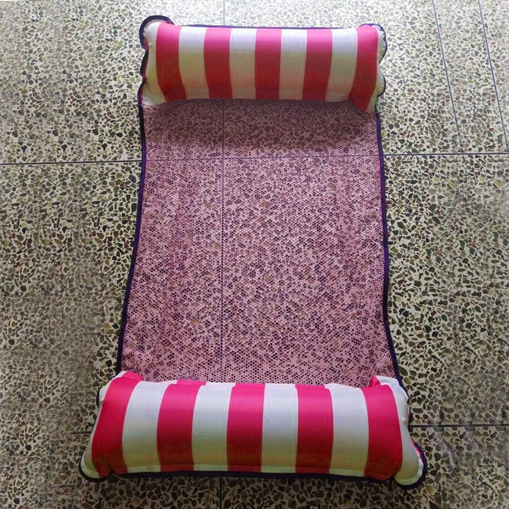 Demiawaking Letto Galleggiante Gonfiabile Pieghevole per Piscina Poltrona da Piscina Gonfiabile Amaca Galleggiante Rete 132 x 70cm Arancione