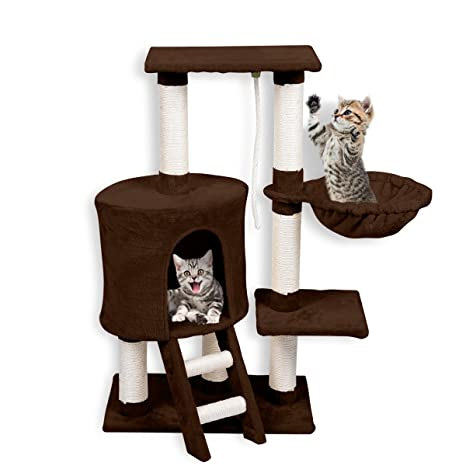 Good FirstWell Cat Tree Condo Tower With Scratching Posts Kitty Trees House Bed  Furniture For Kittens