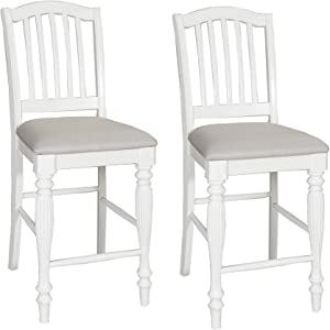 Liberty Furniture Industries Cumberland Creek (Set of 2) Counter Height Dining Chairs, White