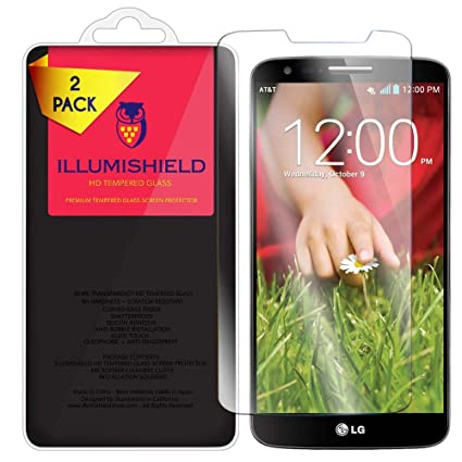 Amazon.com: illumishield HD Vidrio Templado [2-Pack] – LG G2 ...