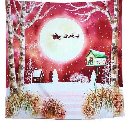 gbsell Navidad cuadrado decorativo tapiz playa toalla Yoga Mat Mantel para fiesta, boda, Picnic