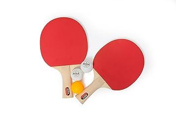 Amazon.com : JOOLA Table Tennis Spirit Racket Set : Beginner Table ...