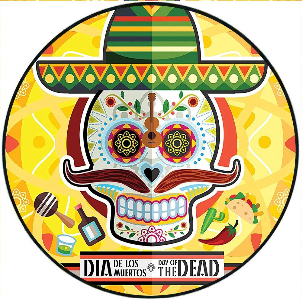 Stupendous Amazon Com Short Plush Round Carpet Mexican Sugar Skull Download Free Architecture Designs Scobabritishbridgeorg
