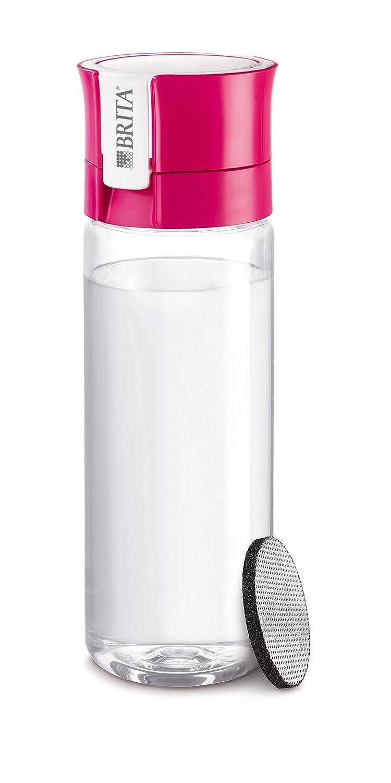 Brita Fill& Go Bottle Filtr Pink Bottiglia per filtrare l'acqua Rosa, Trasparente 1016333