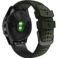 Abanen for Fenix 5/Fenix 6 QuickFit Watch Bands, 22mm Soft Sport Skin-Friendly Waterproof Wristband Strap for Garmin…