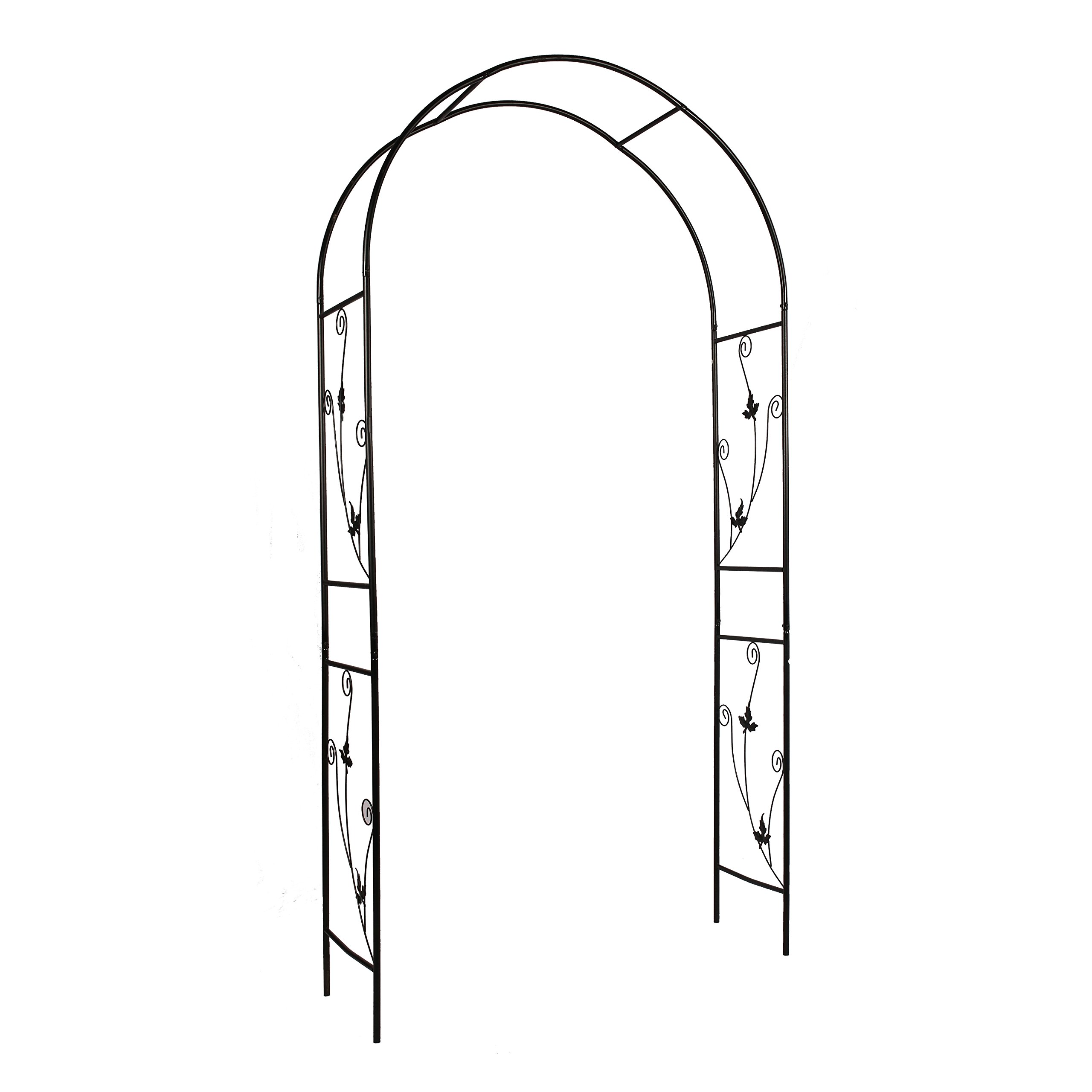 Better Garden Steel Garden Arch, 7'5'' High x 3'7'' Wide, Garden Arbor for Various Climbing Plant, Outdoor Garden Lawn Backyard