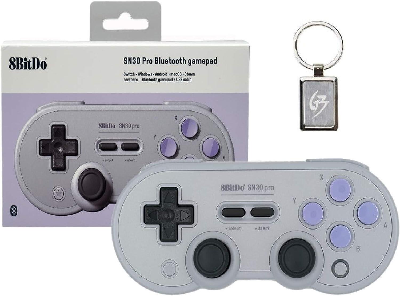 Mcbazel 8bitdo SN30 Pro SN Edition Controller Wireless Bluetooth 4.0 Gamepad for Nintendo Switch, Windows, Android, macOS, Steam with free Keychain: Amazon.es: Videojuegos