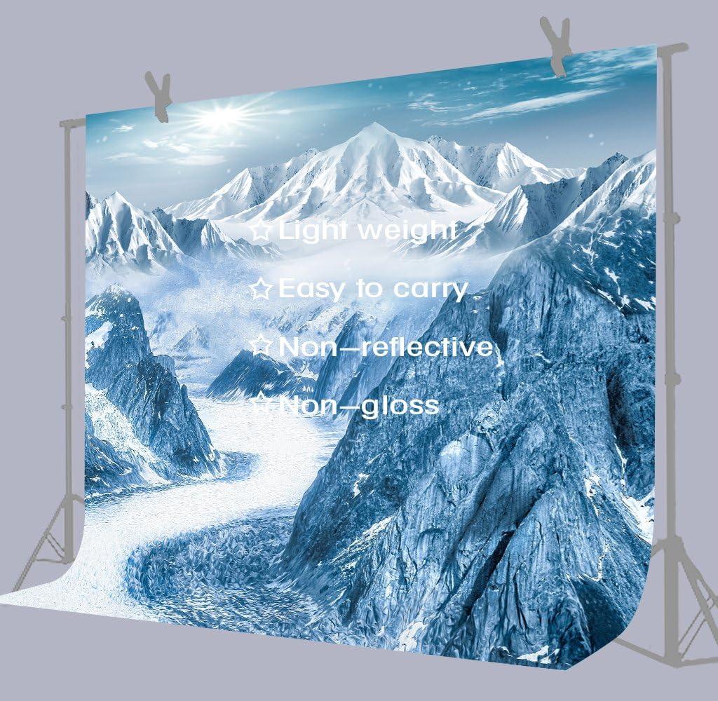 FUERMOR Snowy Mountain Range Background 7x5ft Winter Scenery Hills Landscape Photography Backdrop Photo Studio Props Room Murals KFU003