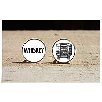 CuteTRex Jewelry Whiskey Cufflinks, Drink Wedding Cuff Link