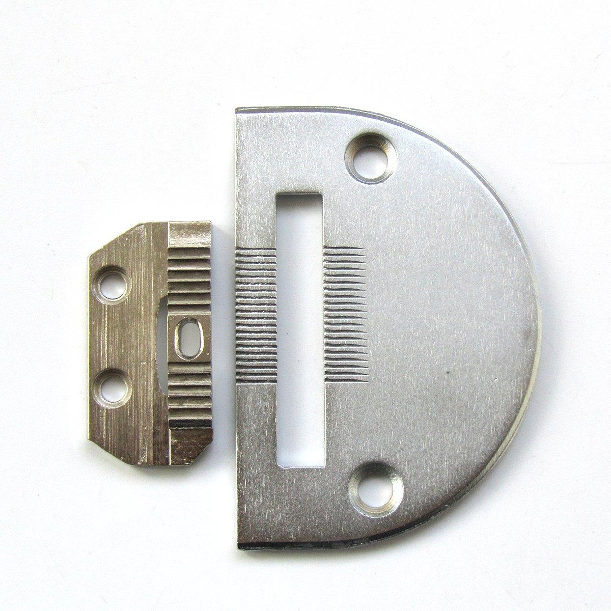 KUNPENG 1 conjunto #18030+18031 placa de aguja Y m/áquina de coser diente Ajuste para Seiko STH8BL Consew 206RB JUKI DNU-1541