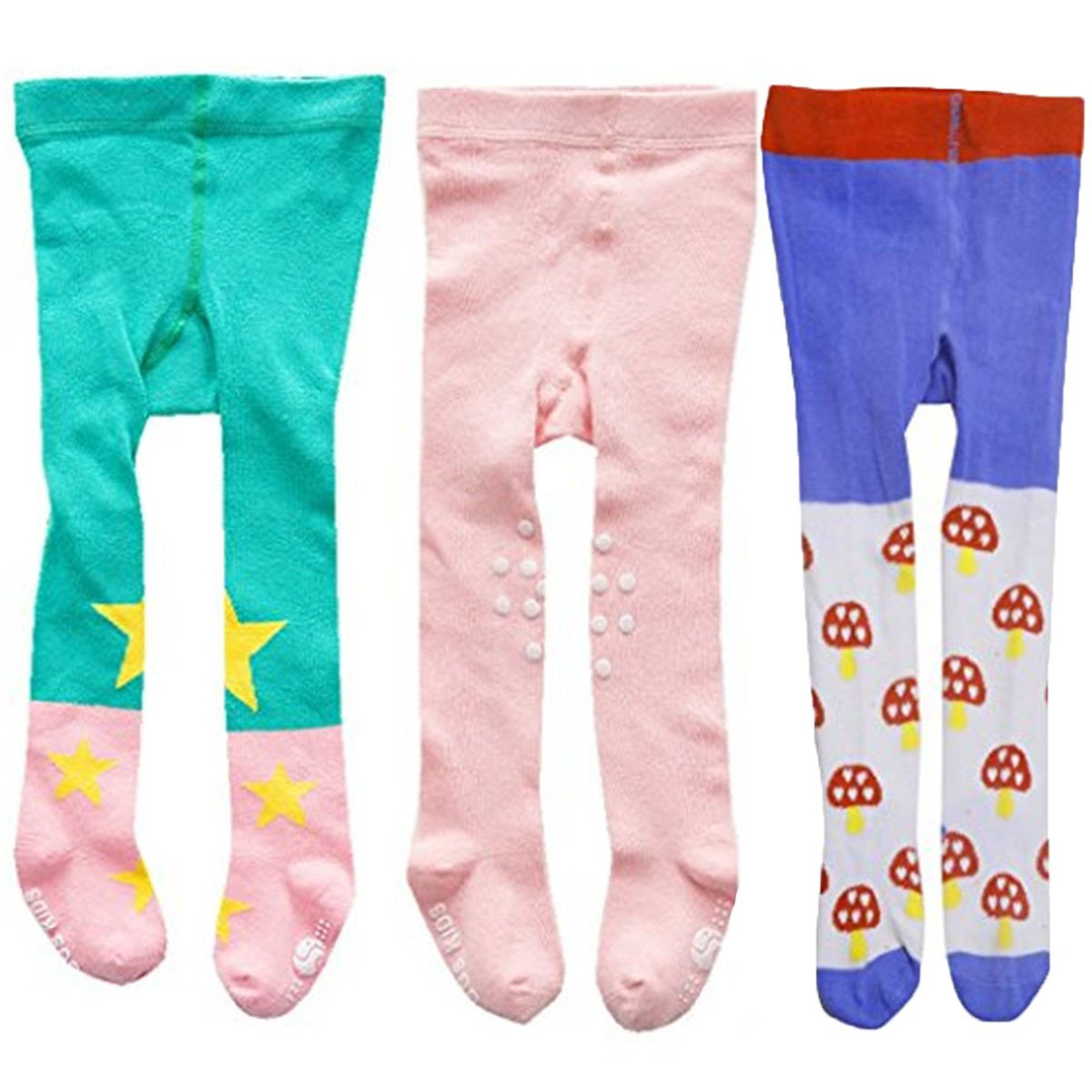 Jeleuon Baby Girls Infant Toddler 3 Pack of Soft Stock Tights Warm Legging Pants 2018tigh-1