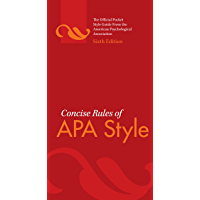 Concise Rules of APA Style, Sixth Edition (Concise Rules of the American Psychological Association (APA) Style) (English Edition)
