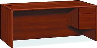 product image for HON 10785RCO 10700 Series Single 3/4 Right Pedestal Desk, 72w x 36d x 29 1/2h, Cognac