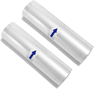 "WHX Vacuum Sealer Bags Rolls for Food Storage Saver Sous Vide Heat Seal Bag 8""x16' - 2 Rolls"