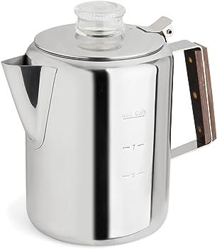 TOPS 55704 Rapid Brew Stovetop Coffee Percolator