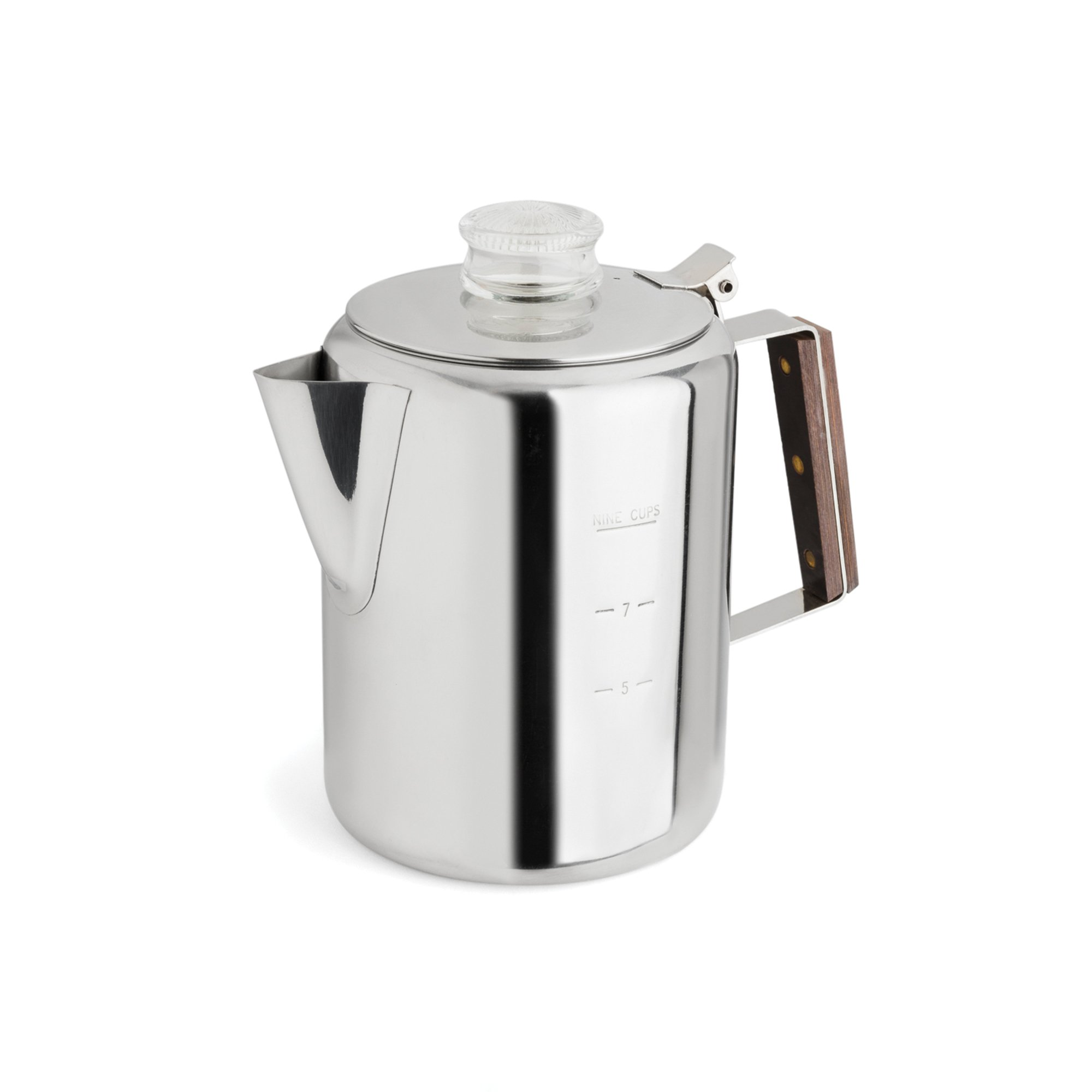 TOPS 55704 Rapid Brew Stainless Steel Stovetop Coffee Percolator, 9-Cup, Metallic by Tops