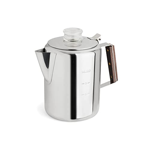 TOPS 55704 Rapid Brew Stovetop Coffee Percolator