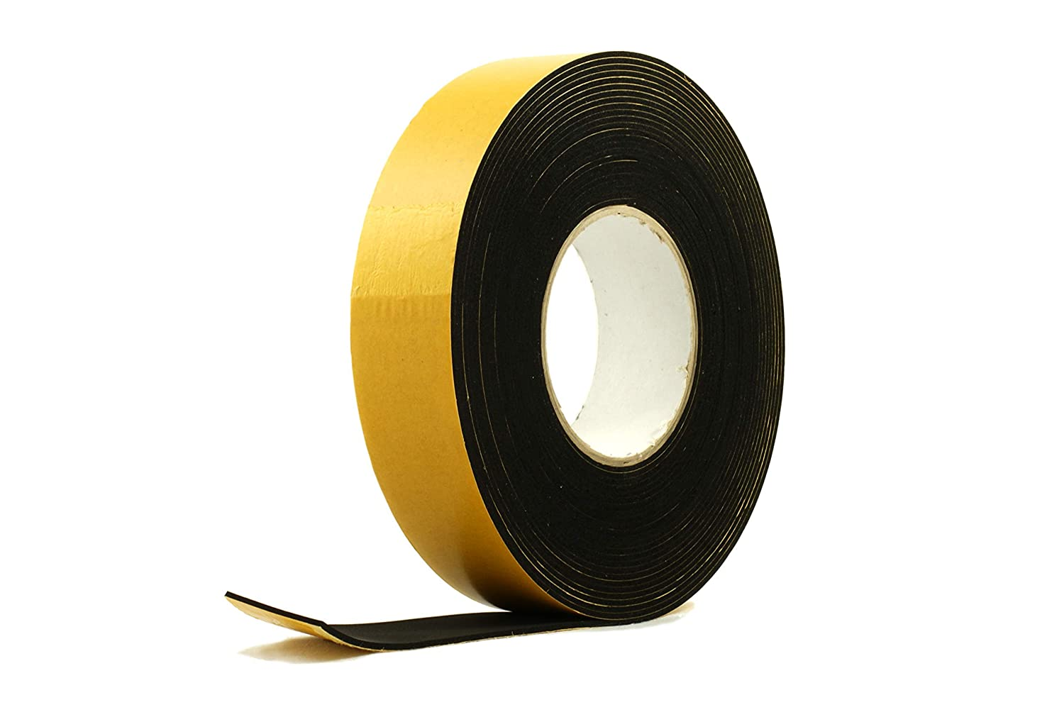 Solid Neoprene Black Rubber Strip 5//8 Wide x 5//64 Thick x 16 feet Long