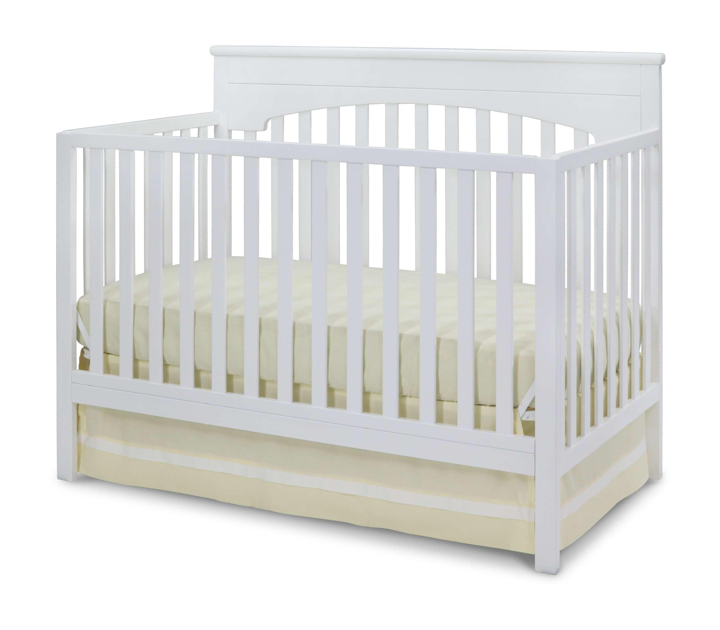 Delta Children Layla 4-in-1 Crib, White