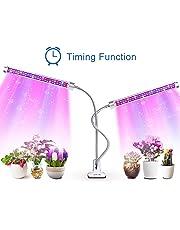 Grow Light, AOVOK LED Grow Lamp Bulbs Plant Lights Full Spectrum 3/6/12H Timer 6 Dimmable Levels Adjustable Gooseneck for Indoor Plants, Vegetable, Flowers, Fruits, Succulents, Seedlings Starting