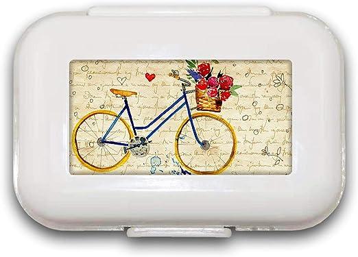 Sunok Pastillero Retro para Bicicleta, Organizador de píldoras ...