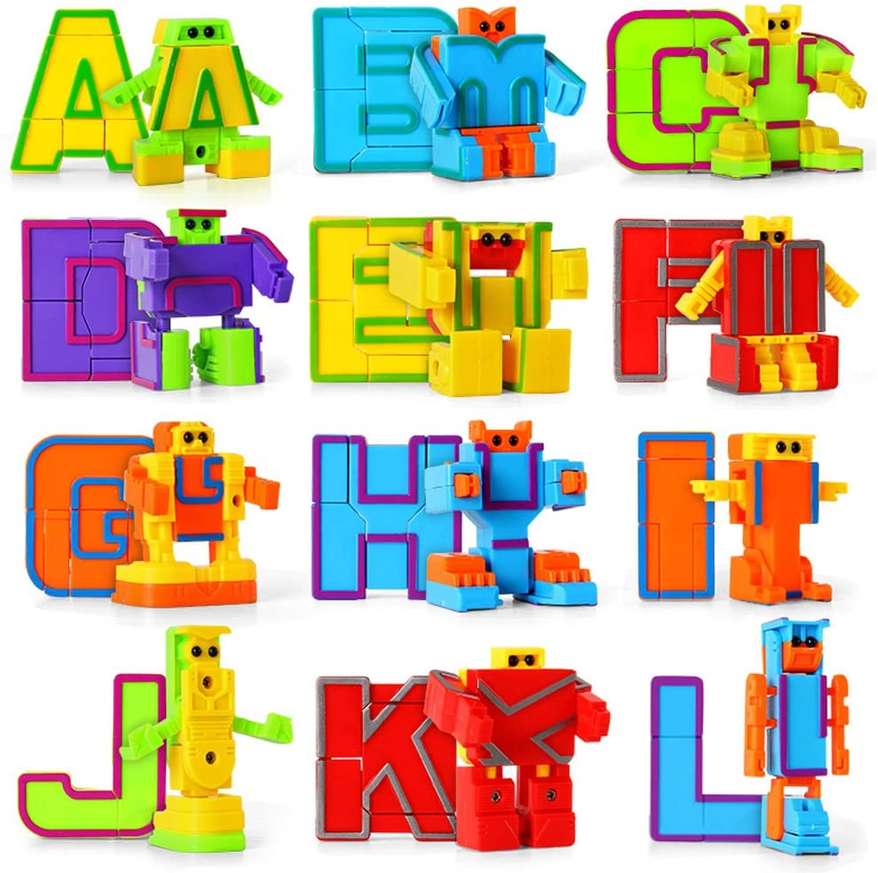 miYou Alphabet Robots Toy for Kids ABC Learning Education Preschool Toys 26 Pieces/Gift Box