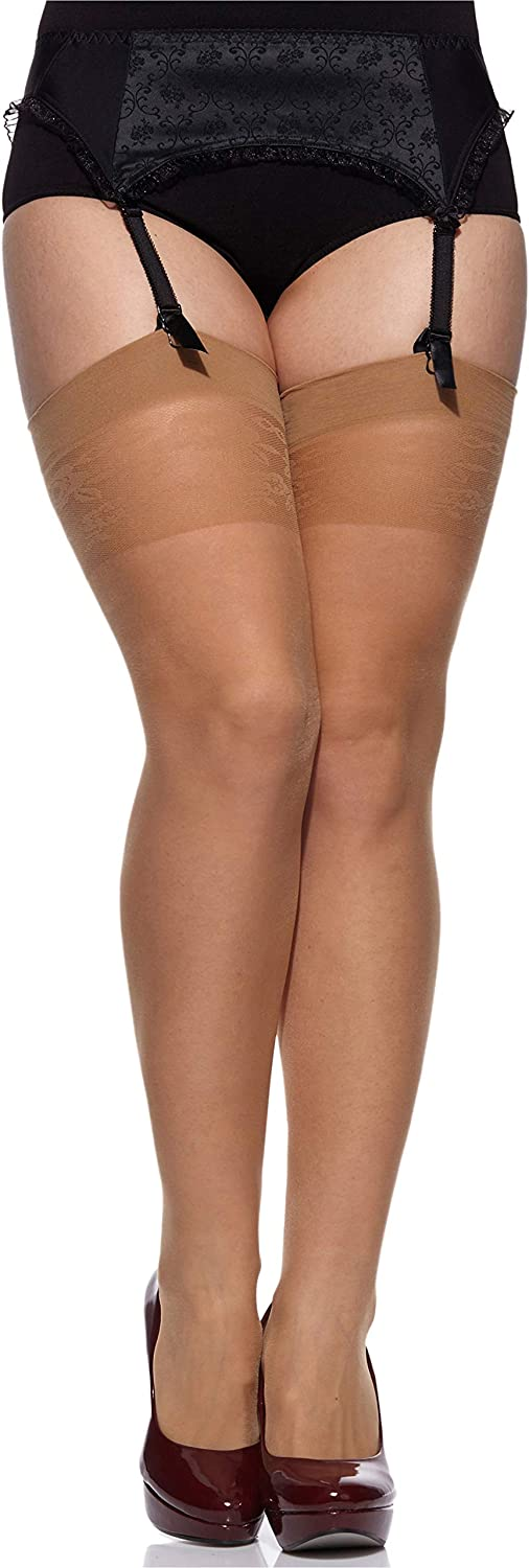 Merry Style Womens Suspender Stockings Plus Size MS 167 20 DEN
