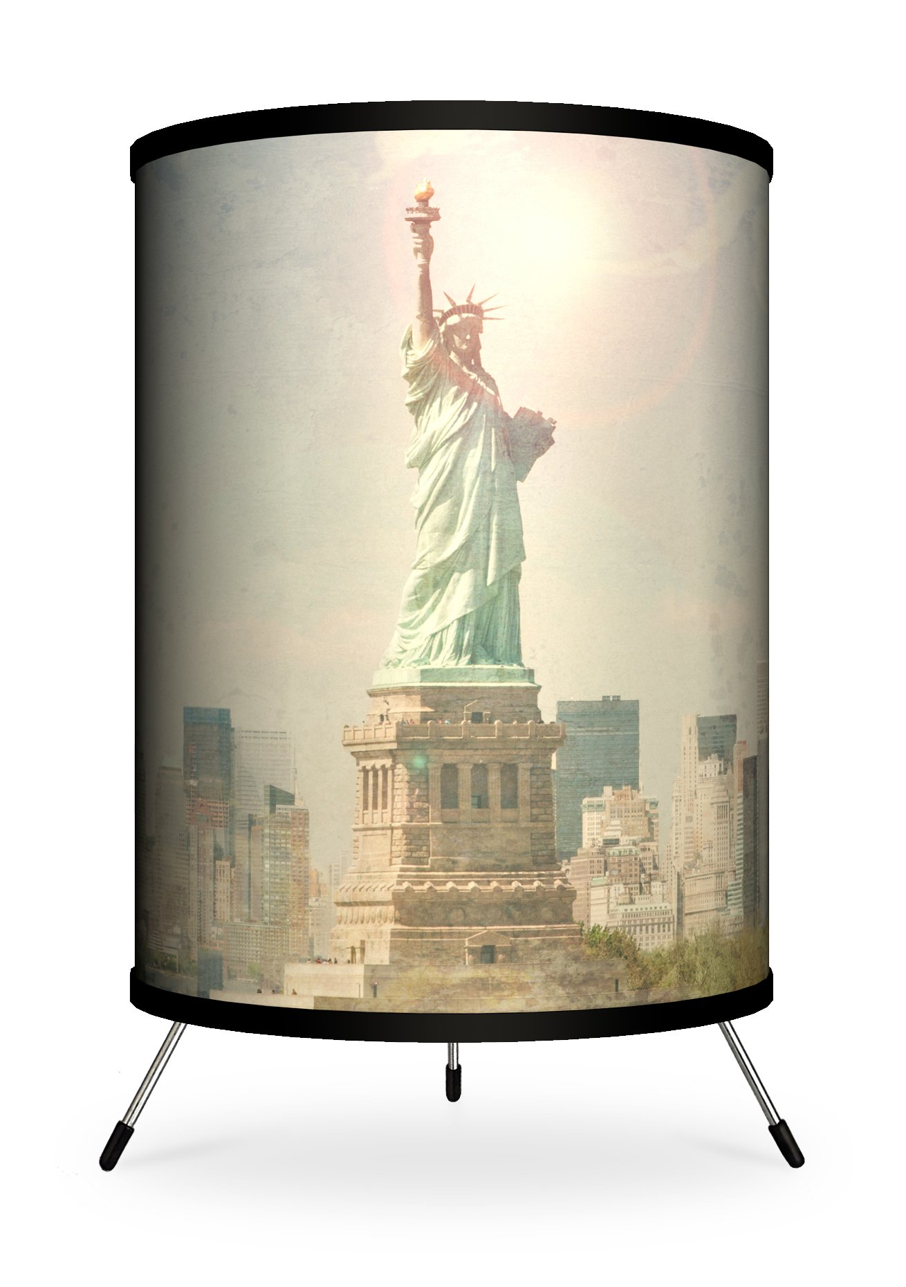 Lamp-In-A-Box TRI-FAR-MMSTA Featured Artists - Michael Mandolfo ''Statue Of Liberty'' Tripod Lamp