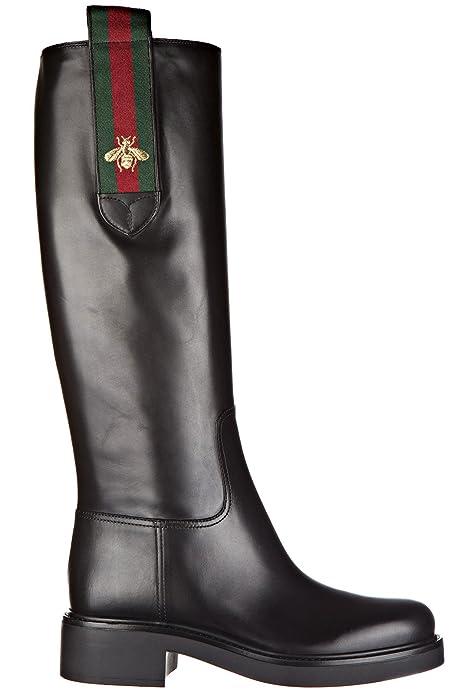 innovative design 364f0 c3f58 Gucci Stivali Donna con Tacco Pelle Betis Glamour Nero ...