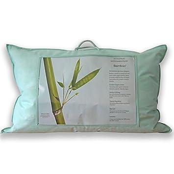 Homescapes Luxus Bio Bambus Kissen Fur Ruckenschlafer 50 X 75 Cm