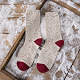 XIU*RONG Socks For Autumn And Winter Thickening Socks For Women05 Meters White (Red Heel)F (10Pairs)