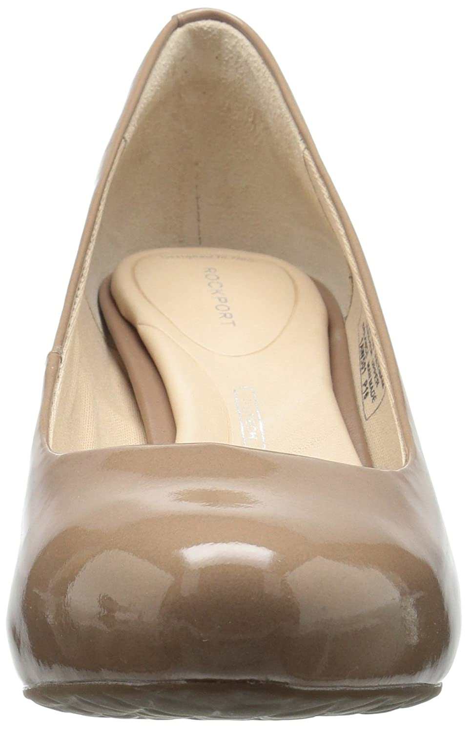 Rockport Women's Sto7h65 Dress Pump B01ABRIAIU 6.5 B(M) US|Rich Taupe Patent