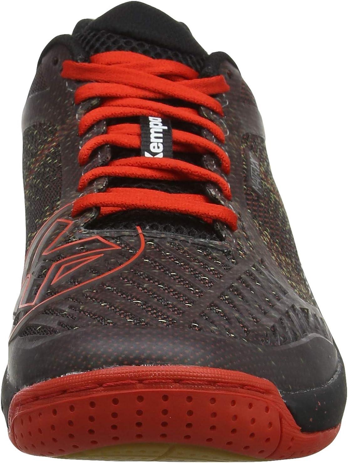 uhlsport Kempa Mens Attack Pro Contender Ebbe /& Flut Handball Shoes Black Schwarz//Lighthouse Rot 03