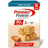 Deals on 5-Count Premier Protein 30g Protein Bar, Salted Caramel, 2.53 Oz Bar