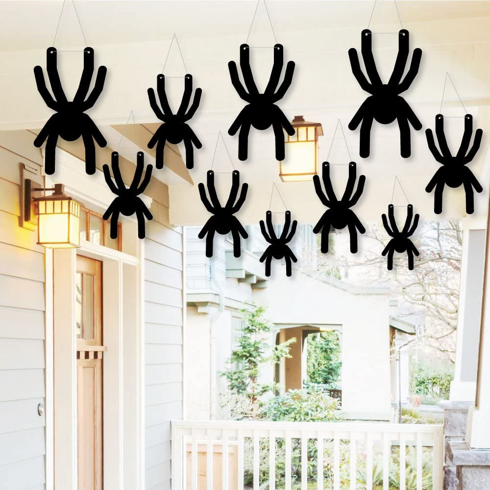 Amazon Big Dot of Happiness Hanging Creepy Spiders