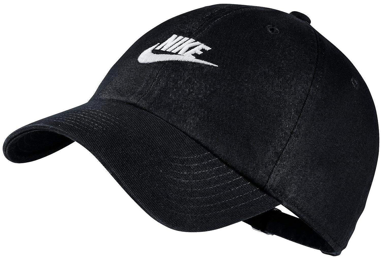 57c04107 Nike Men's Cotton Sportswear Heritage 86 Adjustable Cap (Black/White, Free  Size): Amazon.in: Clothing & Accessories