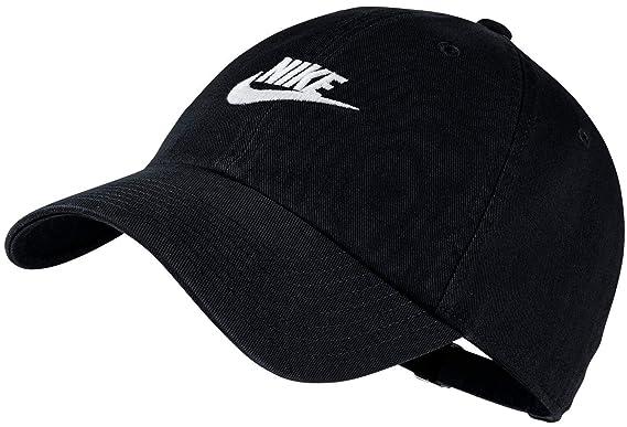 985797946 Nike Men's Cotton Sportswear Heritage 86 Adjustable Cap (Black/White, Free  Size)