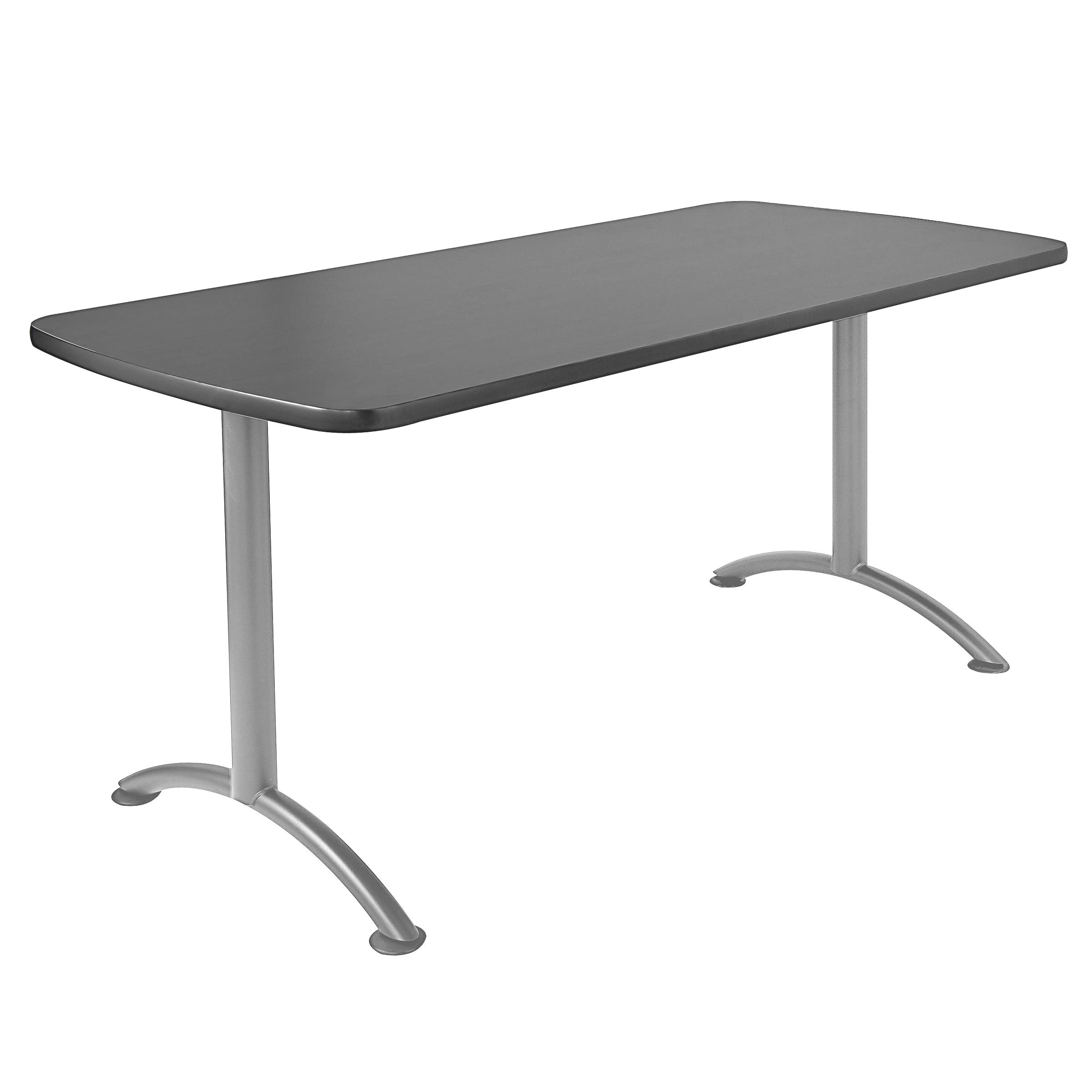 Iceberg ICE69217 ARC 5-foot Rectangular Conference Table, 30'' x 60'', Graphite/Silver Leg by Iceberg