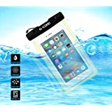 G-Cord Universal Clear Waterproof Case Protective Cover Pouch Dry Bag for Apple iPhone 6s, 6s Plus, 6, 6 Plus, 5s, 5,Samsung Galaxy Note 3, 2, S6, S6 Edge, S5, S4 S3, HTC One X, Moto X - IPX8 Certified to 100 Feet (Black Lock)