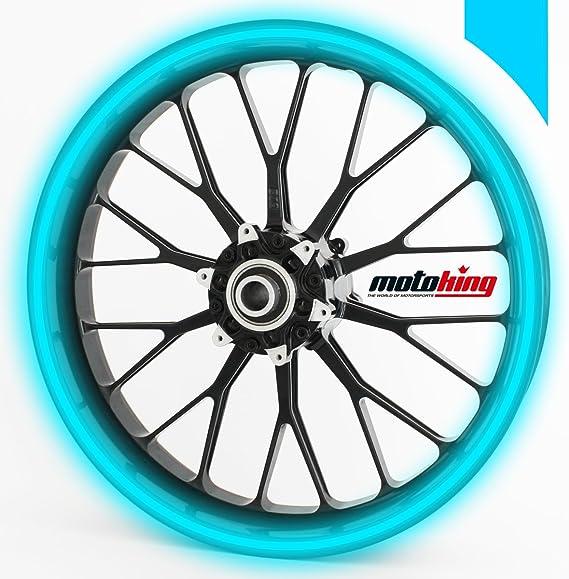 Motoking Felgenrandaufkleber 360 Reflektierend Ganzer Kreis Für 15 Bis 18 Farbe Breite Wählbar Sport Freizeit