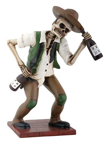618477d4426 Amazon.com  El Borracho Green Skeleton Holding Liqour Bottle  Home ...