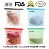 Amazon Price History for:Reusable Silicone Food Preservation Bag Airtight Seal Food Storage Container Versatile Cooking Bag Kitchen Cooking Utensil (4pcs)